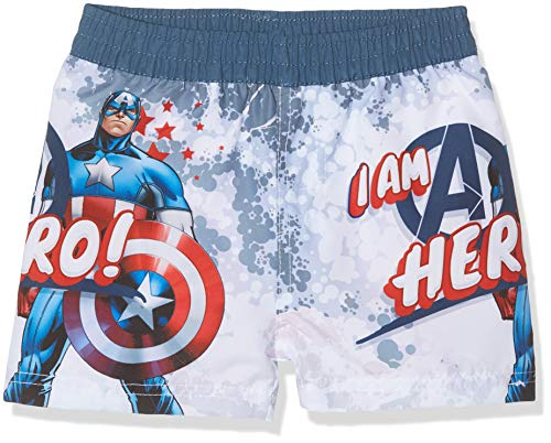 Marvel Jungen Avengers Boxershorts, Blau (Blue Captain), 6 Jahre