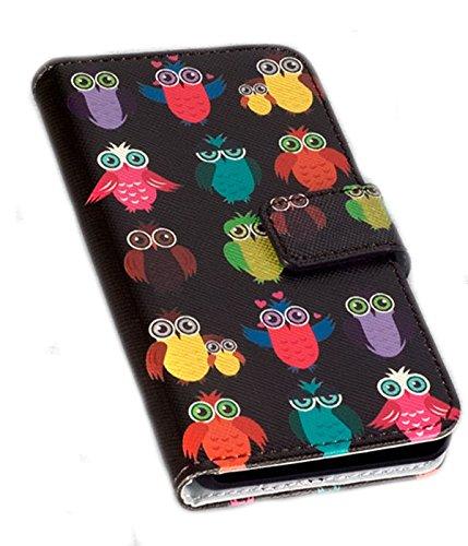 Titan Mobilfunk Zubehör Book Style Handy Tasche - Design NOB - Cover Hülle Schutz Hülle Etui kompatibel mit Motorola Moto G 2. Generation