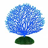 STOBOK Adorno de Coral Artificial Tira Adorno de Plantas de Coral Efecto Brillante Decoración Artificial de Silicona para Acuario Paisaje Azul
