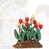 YUHT Dollhouse D & Eacute; Cor, 1:12 Miniatura Dollhouse Flower Tulip Decoration Garden Room Decor Accesorio para niños Toy Doll House DIY