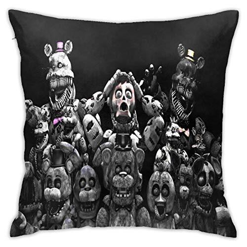 Qoqon Juego de cinco noches en Freddy'S Fundas de almohada para sofá de coche, fundas de almohada, decoración del hogar, 45,7 x 45,7 cm