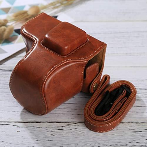 OSL Leder-Kamera-Fall-Kamera-PU-Leder Tasche mit Trageriemen for Olympus EPL7 / EPL8 (Schwarz) Kameratasche aus Leder (Color : Brown)