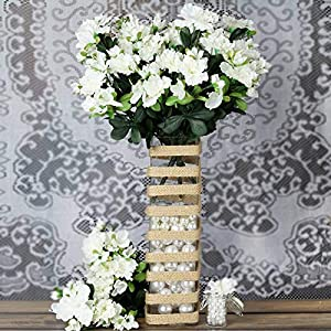 4 Cream Silk Gardenia Bushes Flowers Party Wedding Arrangements Centerpieces cf003