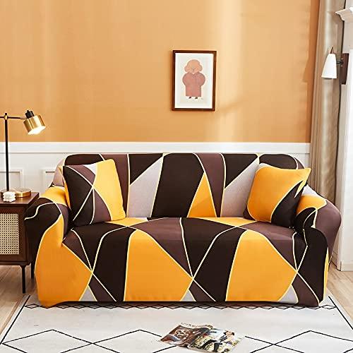 Pastorale Stijl Bloemen Print Stretch Sofa Cover Groen Bladeren Elastische Bank Cover enkel/dubbele/drie/vier Seat Zachte Slipcover A23 2 zits