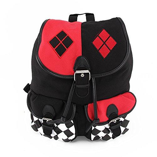 Shoze Kids Children Backpack Cosplay Harley Quinn Comics Suicide Squad Fashion Knapsack School Bag for Boys and Girls