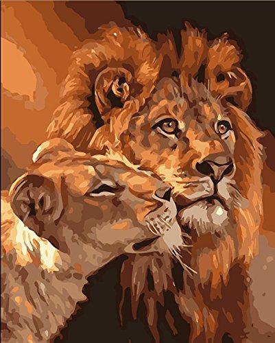 ZHFC-Peinture Peinture Section Peinture Bricolage numérique Bricolage Peinture décorative Part Taille Lion Autocollants 40 * de 50 cm