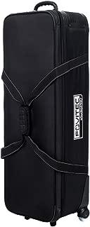 "Fovitec - 1x Professional Photography & Video Lighting Equipment Roller Bag - [44"" x 14"" x 10""][EZ Glide Wheels][Durable Webbed Nylon][Fleece Lining]"