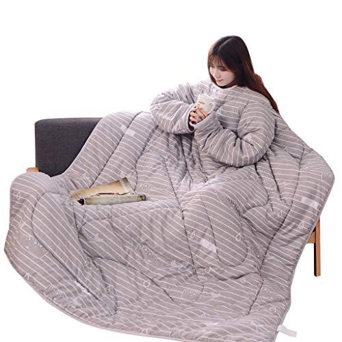 LianMengMVP Courtepointe d'hiver avec Manches Couverture de Couette Lavée et épaissie Hiver Chaud
