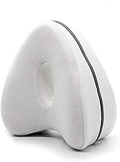 YOMOZEM - Almohada para rodillas para dormir de lado, cojín de espuma viscoelástica ergonómica, proporciona alivio de presión – caderas, piernas, rodillas, espalda y embarazo (blanco)