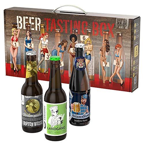Kalea Männerhandtasche | Geschenk-Idee für Männer | Bier-Spezialitäten | Geburtstagsgeschenk | Vatertag | Männertag | Flaschenbiere von Privatbrauereien (8 x 0,33l)