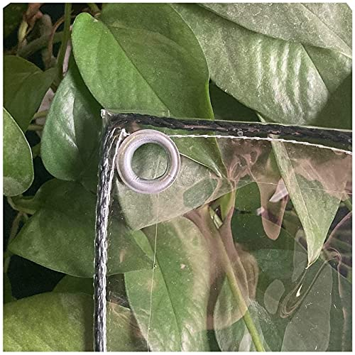 N\A LIJINBO Lonas Impermeables Exterior,Lona Transparente, Pantalla De PVC De Plástico Transparente, Cubierta Multiusos Impermeable, para Cortinas De Dosel De Terraza De Patio, Personalizable