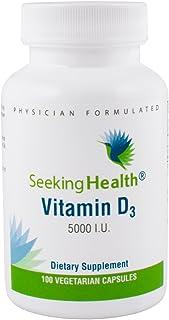 Vitamin D3 5000 IU | Pure High-Potency Vitamin D3 Supplement | 5000 IU as Cholecalciferol | 100 Vegetarian Capsules | Seek...
