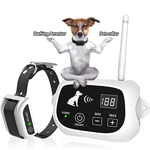 Wireless Dog Fence, Pet Containment System, Pets Dog Containment System Boundary Container with IP65 Waterproof Dog Training Collar Receiver,...