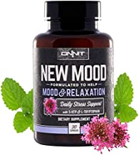 ONNIT New Mood® - Daily Stress, Mood, Sleep & Serotonin Supplement - Chamomile, Magnesium, L-Tryptophan, 5 htp, Valerian - A Real Chill Pill (30ct)