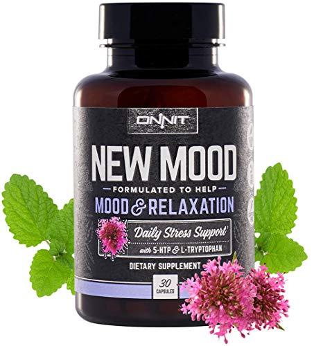 Onnit New Mood - Daily Stress, Mood, Sleep & Serotonin Supplement - Chamomile, Magnesium, Valerian, 5 htp - A Real Chill Pill (30ct)