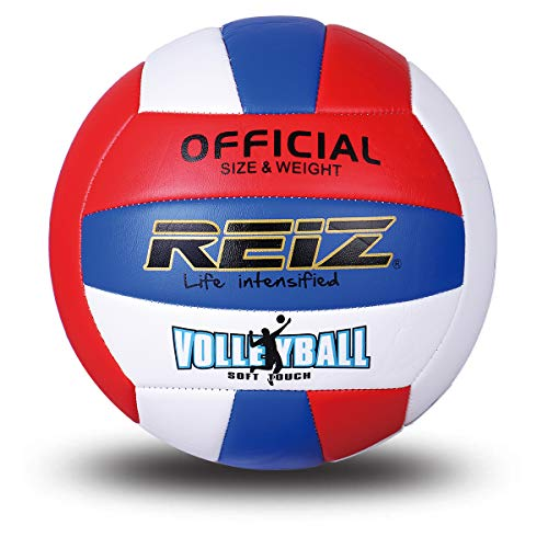 Mumian Soft Volleyball Professional Training Ball Net Needle (Rojo Azul...