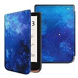 Fintie Funda Compatible con Pocketbook Touch HD 3/Touch Lux 4/Basic Lux 2/Color (2020) e-Book Reader de 6'- Súper Delgada y Ligera Carcasa con Auto-Reposo/Activación, Cielo Estrellado