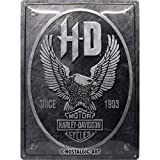 Nostalgic-Art Cartel de Chapa Retro Harley-Davidson – Metal Eagle – Idea de...
