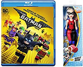 Super DC Hero Girl Power - Figure + Blu-Ray Lego Comics Exclusive Collection: The Lego Batman Animated Movie DVD + Blu Ray & DC Super Hero Girls 12