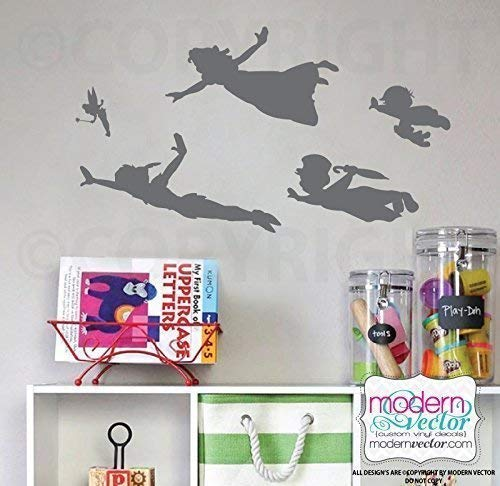 Peter Pan Group Shadow Silhouette Vinyl Wall Decal