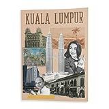 fabulous Plakat Poster Kuala Lumpur Collage Malaysia Kultur