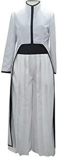 Poetic Walk Bleach Cosplay Ulquiorra Schiffer Uniform Robe Kimono Hallpween Costume Outfit