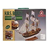 Kit in legno per costruire il Bounty Misure montato: 76 x 60 x 29.5 cm Adatto per modellisti esperti Include istruzioni dettagliate con immagini su come costruire la nave Scala 1:50