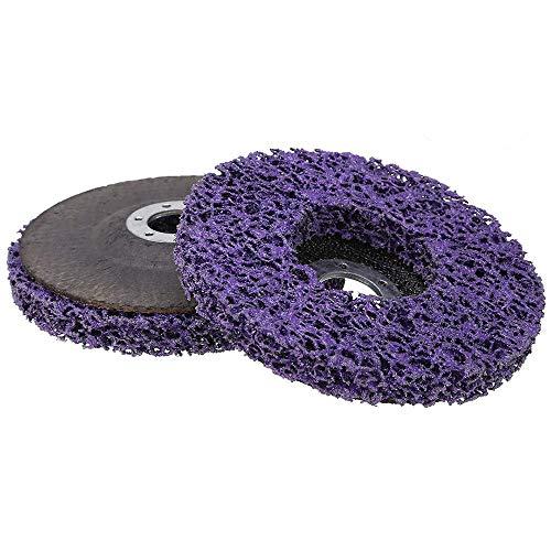 Disco de Limpieza, 125 mm, Tejido de Nailon, Color Morado Eliminación de óxido de Pintura Limpiar para la Amoladora Angular para Amoladora Angular