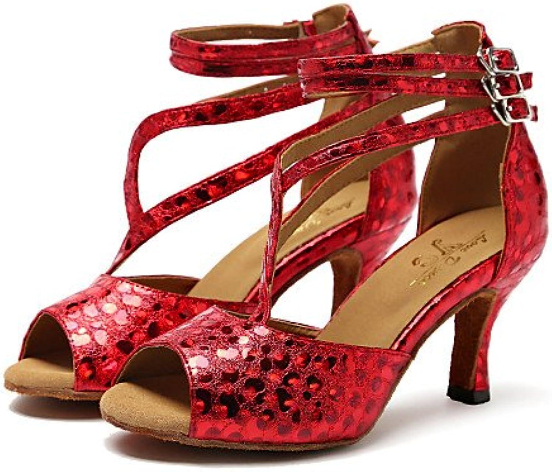 T.T-Q Woherren Dance Schuhe Synthetische Heels Stiletto Heel Heel Heel Professionelle Splitter B07FYC7TC2  Sonderaktionen zum Jahresende 2d4905