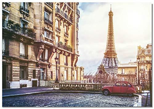 Panorama Póster Calles Paris Torre Eiffel 30 x 21 cm Impreso en Papel 250gr Póster Pared Cuadros Decoración Salón y Dormitorio Póster Decorativos Cuadros Modernos