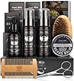 Beard Growth Kit, Beard Grooming Care Kit for Men with Beard Oil,Beard Shampoo Wash, Conditioner,...