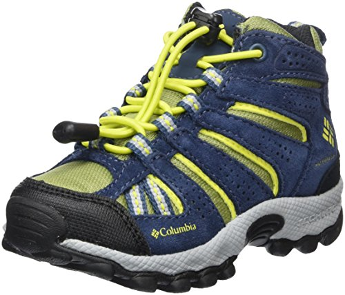 Columbia Garçon, Chaussures de Trail running, Imperméable, CHILDRENS NORTH PLAINS MID, Bleu (Cool Moss, Zour), Pointure: 26