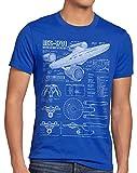 style3 NCC-1701 Camiseta para Hombre T-Shirt Fotocalco Azul Christopher Pike Trek Trekkie Star,...