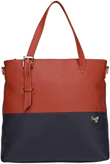 Baggit Womens Zip Closure Satchel Handbag (Red_Free Size)