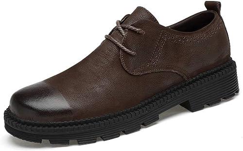CHENDX Chaussures, Chaussures, Décontracté Style Nouveau Bout for Hommes d'affaires Oxford Faible Top Classique de la Mode en Plein air Chaussures Formelles Chaudes et Douces (Classique en Option)