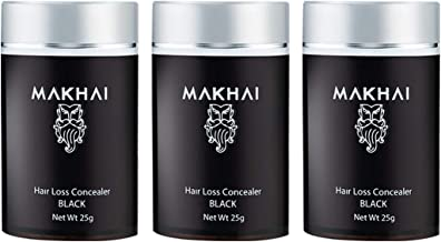 Makhai Hair Building Fibers/Hair Loss Concealer 25g (Black)- (Pack of 3)