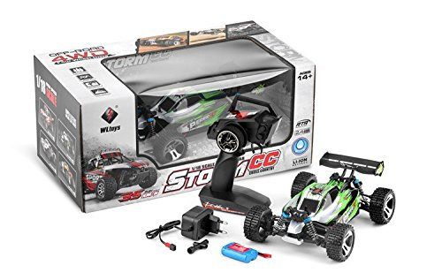 RC Auto kaufen Buggy Bild 2: s-idee® 18130 A959-A RC Auto Buggy Monstertruck 1:18 mit 2,4 GHz 35 km/h schnell, wendig, voll digital proportional 4x4 Allrad WL Toys ferngesteuertes Buggy Racing Auto*