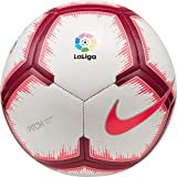 Nike Ballon de Football Pitch - Blanc/Rose Flash/Team Red - Taille 5 - SC3318-100