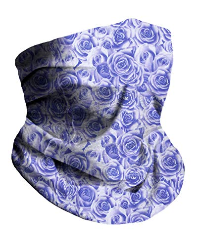 Violet Roses Breathable Neck Gaiter Masks Half Face Cover Wrap Cool Mask Bandana Festival Rave Balaclava Scarf INTO THE AM