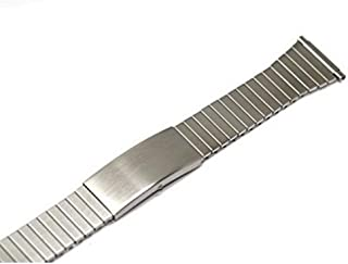 TIMEX 16-20MM Stainless Silver Expansion Fast FIT Strap Watch Band