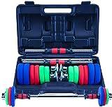 15KG Ajustable elevación de Fitness con Mancuernas Kit Peso 2 en 1 Familia y Gimnasia Dedicado Dumbbell Set Barra Conjunto (Tamaño: 15 kg)