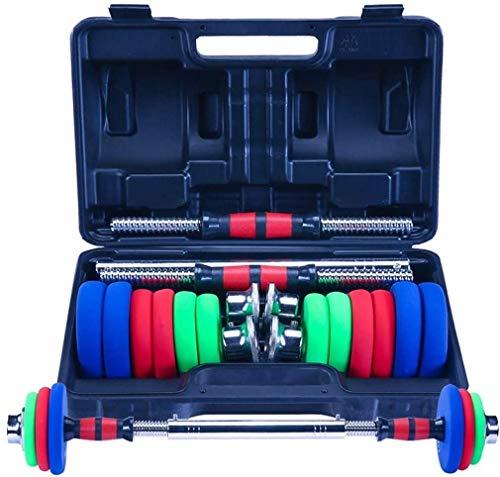 manubri palestra modulari 30KG regolabile Sollevamento fitness manubri Kit Peso 2 in 1 famiglia e palestra Dedicato Set di manubri bilanciere Set (Dimensione: 30KG)