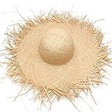 NUEVOS Sombreros de Paja Hechos a Mano para Mujer Sombreros Grandes y Anchos Gilrs Rafia Natural Panama Beach Gorras de Sol de Paja para Vacaciones
