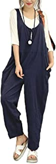 neveraway Womens Jumpsuit Rompers Loose Casual Pockets Bib Overall