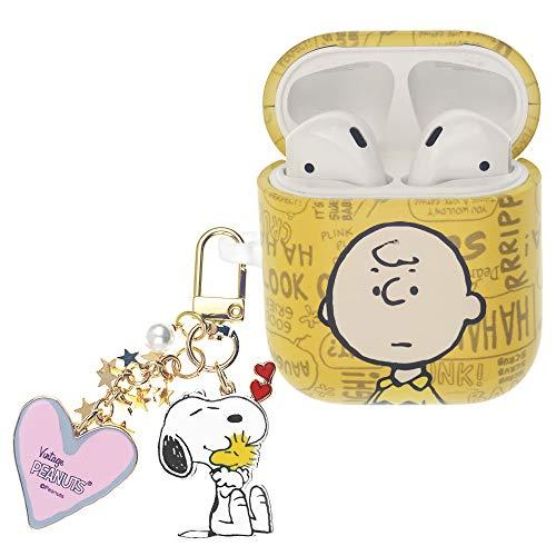 Peanuts Charlie Brown ピーナッツ チャーリー ブラウン AirPods と互換性があります ケース スヌーピー キーホルダー エアーポッズ用ケース 硬い スリム ハード カバー (言葉 チャーリー ブラウン) [並行輸入品]