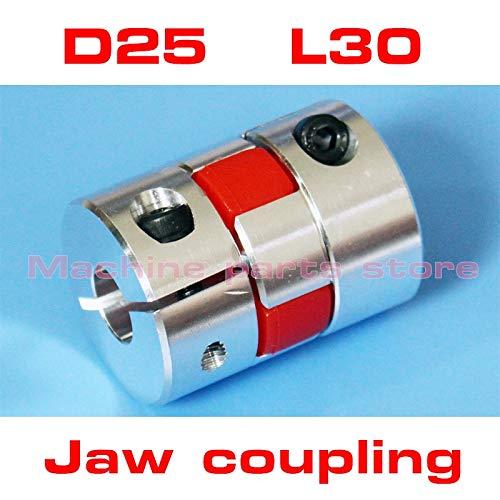 "Ochoos Shaft Coupling Flexible Jaw Spider Plum Coupler 4mm 5mm 6 6.35 7mm 8 9mm 9.525mm 10 11 12 12.7mm 1/4"" 1/2"" 3/8"" - (Inner Diameter: 4mm to 10mm)"