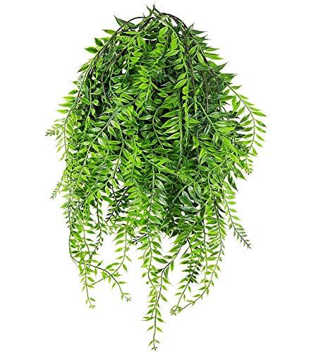 Bloem 2 stuks kunstmatige wilg wijnstokken, nep klimop opknoping plant slinger plastic groene plant muur opknoping muur bruiloft vakantiehuis lay-out
