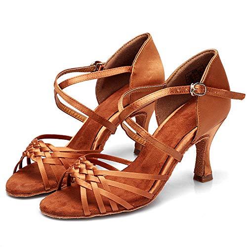 Dance Schuhe7.5Cm Latin Dance Shoes Female Professional Dance Shoes Cross-Border National Standard Latin Dance Adult Female High-Heeled Latin Dance Shoes Female-B_35