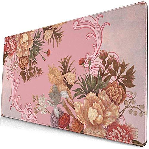 Sjaal Bloemen en Ornament Achtergrond Patroon Muismat Mousepad Mouse Mat Antislip Rubber Duurzaam