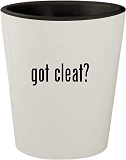 got cleat? - White Outer & Black Inner Ceramic 1.5oz Shot Glass